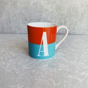 Kate Spade Lennox What's In a Name Letter 'A' Mug